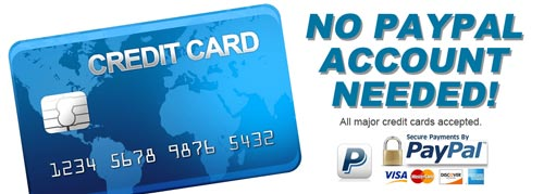 Pay with a credit card, no Paypal account required.